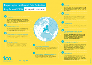 "The General Data Protection Regulation (GDPR) – ""12 Steps to take now"""